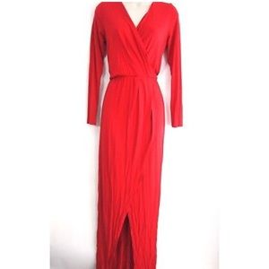 NWT Michael Stars Joanie Maxi Wrap Surplice Dress